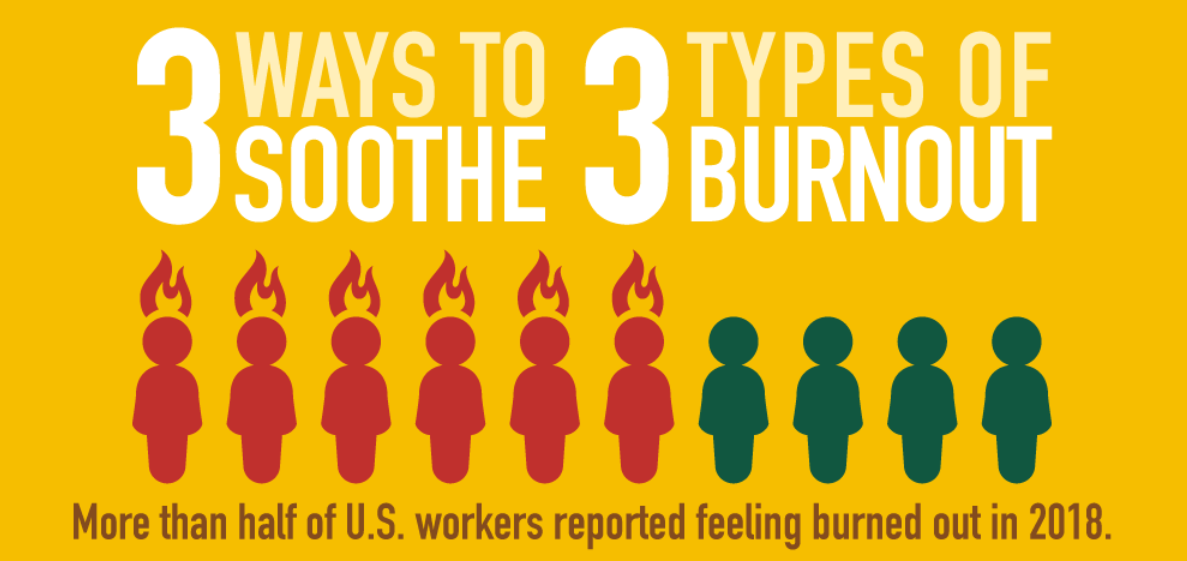 3 Ways to Soothe 3 Types of Burnout