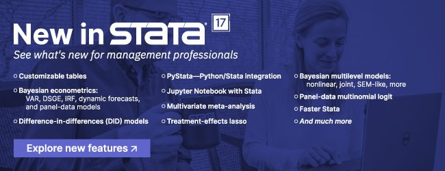 Stata: See what's new for management professionals